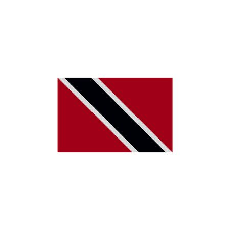 flag of Trinidad and Tobago colored icon. Elements of flags illustration icon. Signs and symbols can be used for web, logo, mobile app, UI, UX on white background