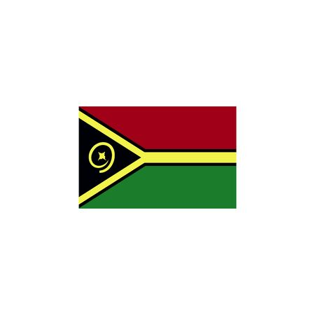 flag of Vanuatu colored icon. Elements of flags illustration icon. Signs and symbols can be used for web, logo, mobile app, UI, UX on white background