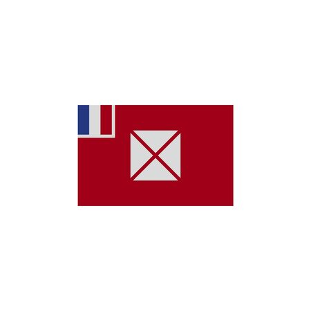 flag of Wallis and Futunan colored icon. Elements of flags illustration icon. Signs and symbols can be used for web, logo, mobile app, UI, UX on white background Ilustração