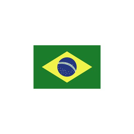 flag of brazil colored icon. Elements of flags illustration icon. Signs and symbols can be used for web, logo, mobile app, UI, UX on white background