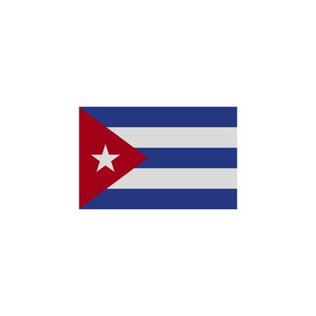 flag of Cuba colored icon. Elements of flags illustration icon. Signs and symbols can be used for web, logo, mobile app, UI, UX on white background
