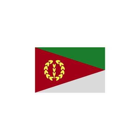 flag of Eritrea colored icon. Elements of flags illustration icon. Signs and symbols can be used for web, logo, mobile app, UI, UX on white background