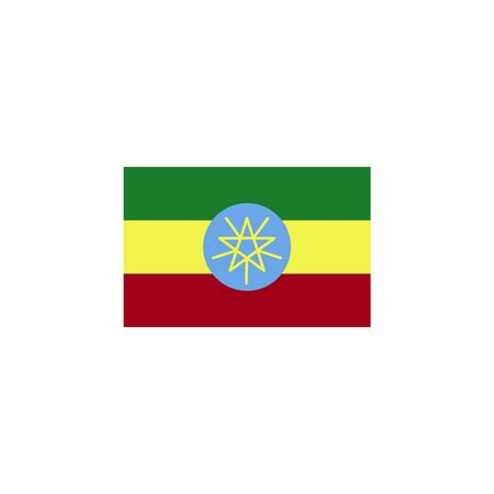 flag of Ethiopia colored icon. Elements of flags illustration icon. Signs and symbols can be used for web, logo, mobile app, UI, UX on white background