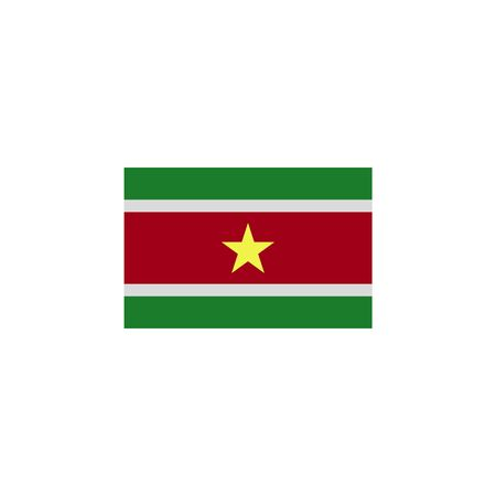 flag of Suriname colored icon. Elements of flags illustration icon. Signs and symbols can be used for web, logo, mobile app, UI, UX on white background Ilustração
