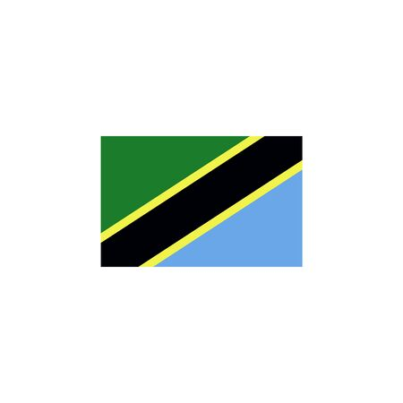 flag of Tanzania colored icon. Elements of flags illustration icon. Signs and symbols can be used for web, logo, mobile app, UI, UX on white background
