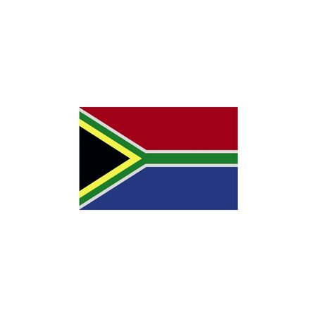 flag of south africa colored icon. Elements of flags illustration icon. Signs and symbols can be used for web, logo, mobile app, UI, UX on white background Ilustração