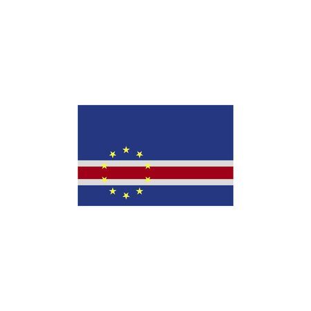 flag of cape verde colored icon. Elements of flags illustration icon. Signs and symbols can be used for web, logo, mobile app, UI, UX on white background