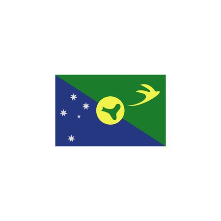 flag of Christmas island colored icon. Elements of flags illustration icon. Signs and symbols can be used for web, logo, mobile app, UI, UX on white background