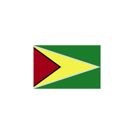flag of Guyana colored icon. Elements of flags illustration icon. Signs and symbols can be used for web, logo, mobile app, UI, UX on white background Illustration