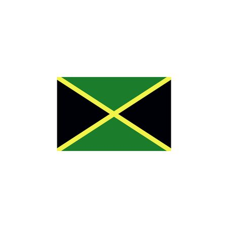 flag of Jamaica colored icon. Elements of flags illustration icon. Signs and symbols can be used for web, logo, mobile app, UI, UX on white background