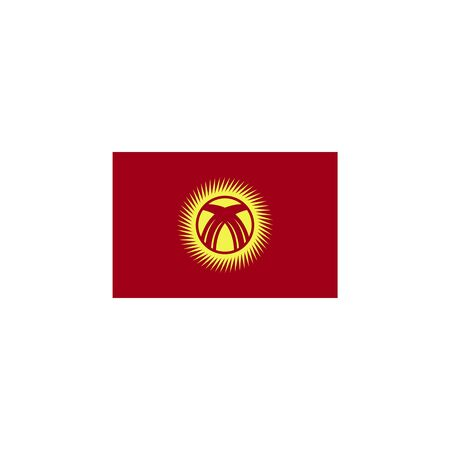 flag of Kyrgyzstan colored icon. Elements of flags illustration icon. Signs and symbols can be used for web, logo, mobile app, UI, UX on white background