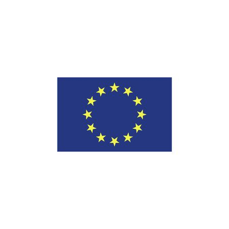 flag of European union colored icon. Elements of flags illustration icon. Signs and symbols can be used for web, logo, mobile app, UI, UX on white background Illustration