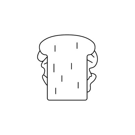 a sandwich icon. Element of fast food for mobile concept and web apps. Thin line  icon for website design and development, app development. Premium icon on white background Illustration