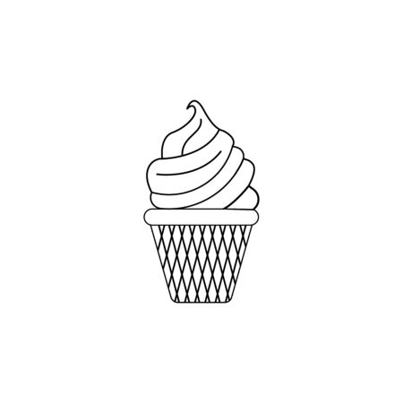 cup cake icon. Element of fast food for mobile concept and web apps. Thin line  icon for website design and development, app development. Premium icon on white background