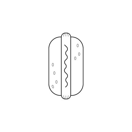 Hot Dog icon. Element of fast food for mobile concept and web apps. Thin line  icon for website design and development, app development. Premium icon on white background