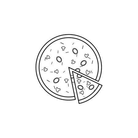 pizza icon. Element of fast food for mobile concept and web apps. Thin line  icon for website design and development, app development. Premium icon on white background