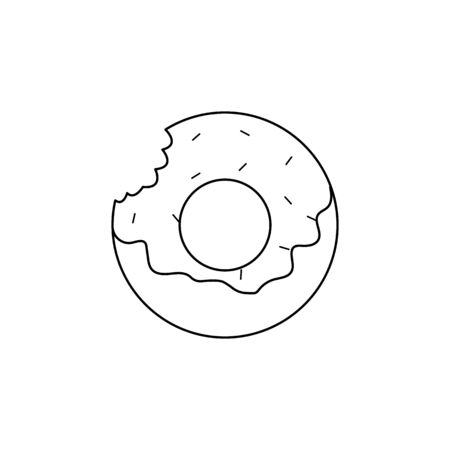 donut icon. Element of fast food for mobile concept and web apps. Thin line  icon for website design and development, app development. Premium icon on white background Illustration