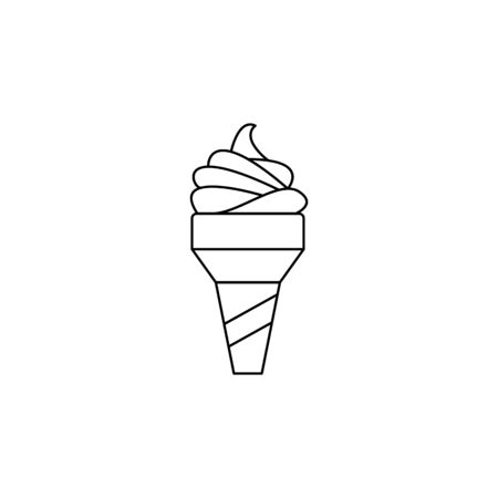 ice-cream icon. Element of fast food for mobile concept and web apps. Thin line  icon for website design and development, app development. Premium icon on white background