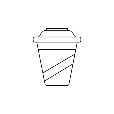 plastic cup icon. Element of fast food for mobile concept and web apps. Thin line  icon for website design and development, app development. Premium icon on white background