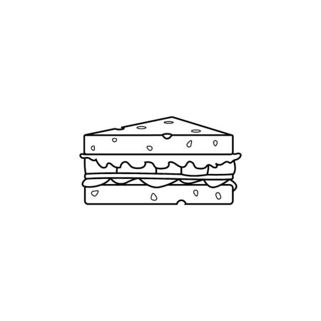 a sandwich icon. Element of fast food for mobile concept and web apps. Thin line  icon for website design and development, app development. Premium icon on white background Ilustração