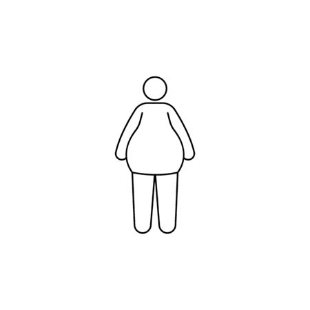 fat person icon. Element of fast food for mobile concept and web apps. Thin line  icon for website design and development, app development. Premium icon on white background