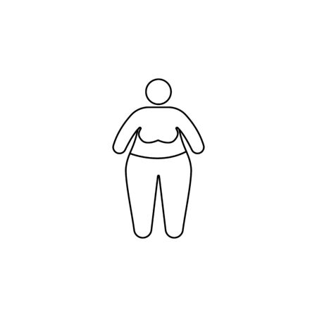 Obesity problems icon. Element of fast food for mobile concept and web apps. Thin line  icon for website design and development, app development. Premium icon on white background Illustration