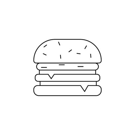 Hamburger icon. Element of fast food for mobile concept and web apps. Thin line  icon for website design and development, app development. Premium icon on white background