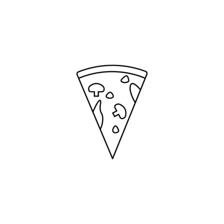 piece of pizza icon. Element of fast food for mobile concept and web apps. Thin line  icon for website design and development, app development. Premium icon on white background
