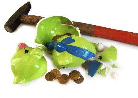 forfeiture: Piggybank cracked