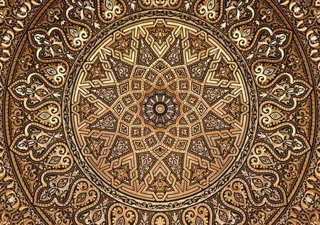 Radial Golden Arabic Ornament illustration