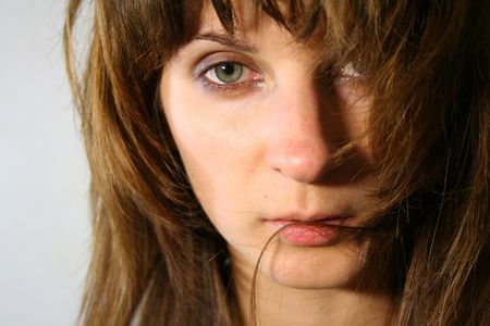 Sad tender looking woman Stock Photo - 1796469