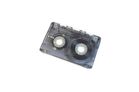 Old grey tape which is used to play deifferent records Stock Photo