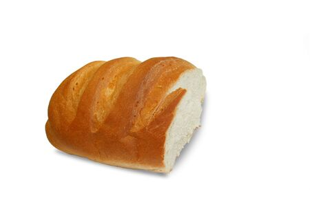 Isolated half of bread Stock Photo