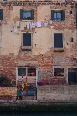 Linen in Venice streets Stock Photo
