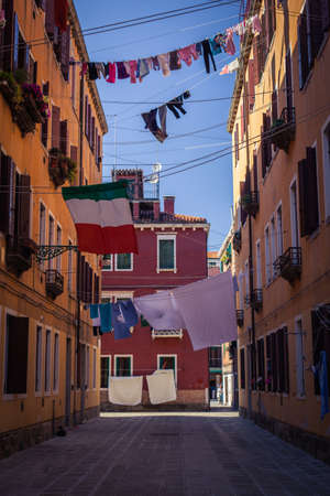 Linen in Venice streets photo