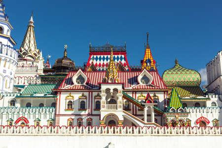 izmaylovskiy: White-stone Kremlin in Izmaylovo in Moscow, Russia Editorial