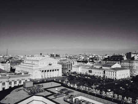 The view to the bolshoi theatre in moscow Stock Photo