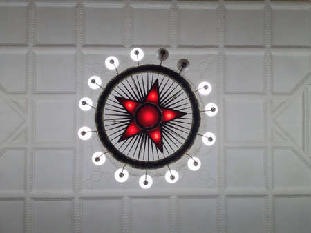 Red star with  lamps