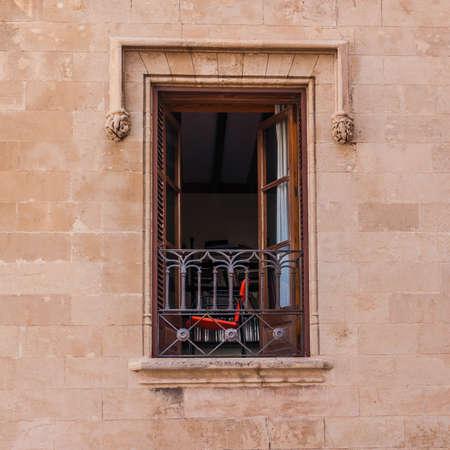 Open window on the wall photo