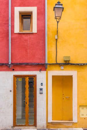 Colorful house with doors and windows.Spain ,Palma de Mallorca photo