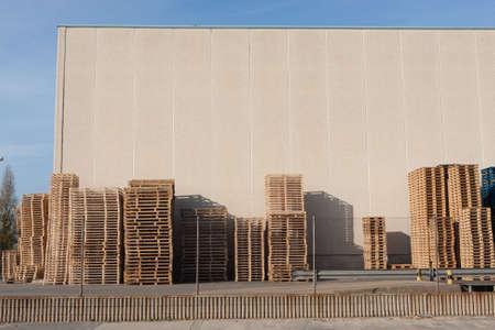 Construction site in Sant Feliu de Llobregat, Barcelona, Spain photo