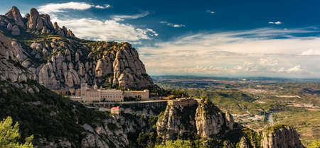 Montserrat Monastery high in the mountains near Barcelona, Catalonia, Spain