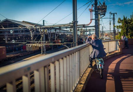 11: TOULOUSE, FRANCE - 11 SEPTEMBER 2015: View of Rail Terminal and rail ways in sunny day Editorial