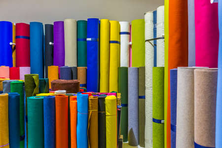 colorful wrapping paper rolls