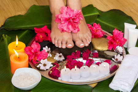 Woman legs SPA therapy