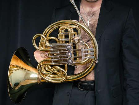 Musical instrument hairy torso musician