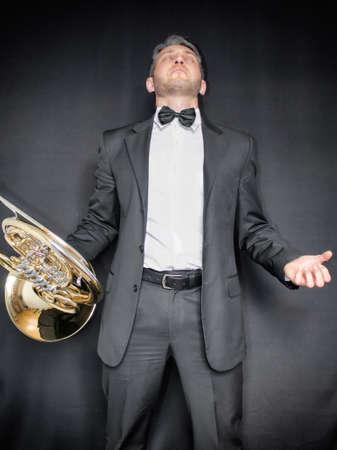 Musician in desperation