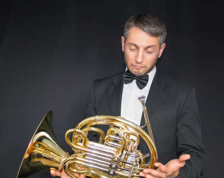 Musician is confused with his music instrument