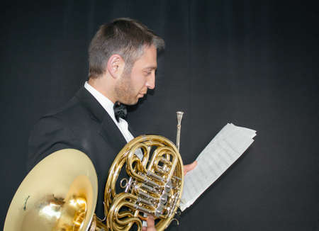 French hornist Фото со стока