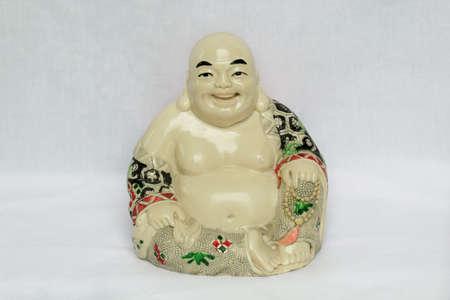 China god statue white screen Фото со стока